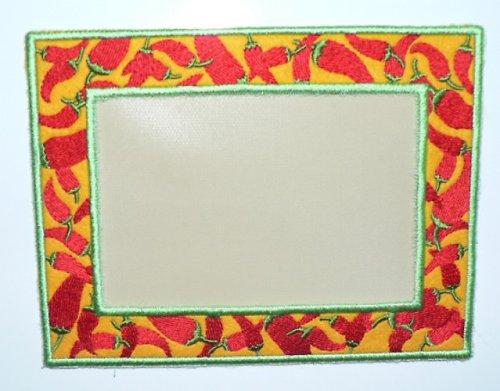 Celovyšitý magnet. rámeček na fotky Chilli papriky