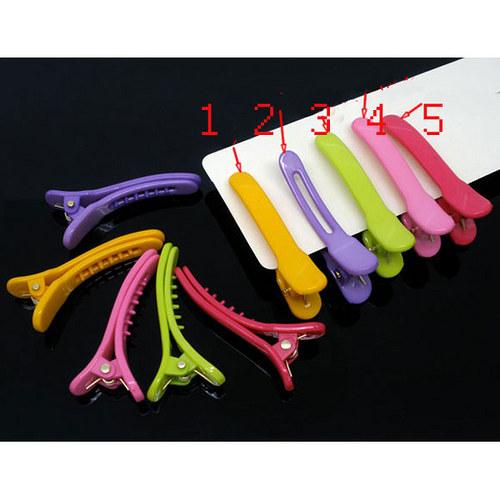 plast.sponka krokodýlek/ fialová č.2/ 42x6mm/ 2ks