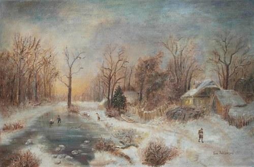 Zimní krajina podle obrazu A. B. Piepenhagena