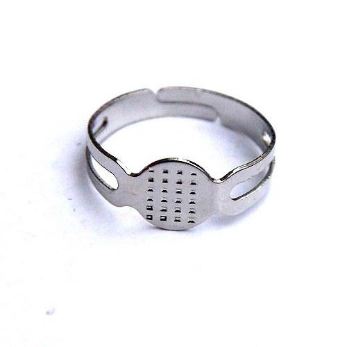 Prsten 8mm - 4ks - Platinový
