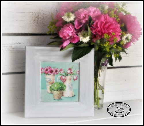 Zátiší s tulipány a pryskyřníky