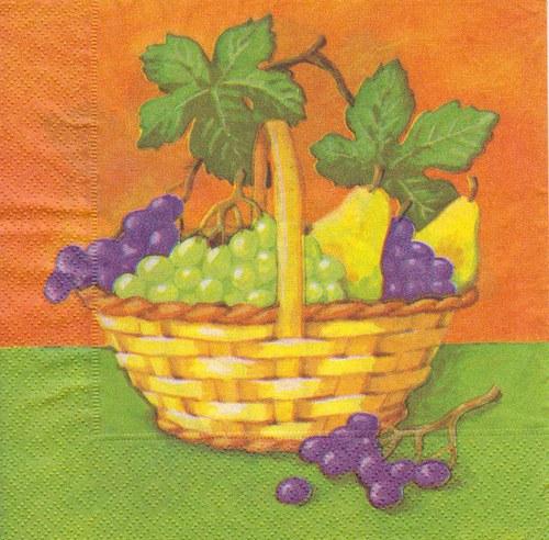 Ubrousek - hroznové víno v košíčku (2 ks - AKCE)