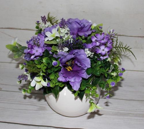 ♥ Květinové aranžmá fialové tony ♥