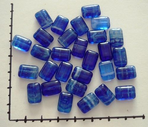 Obdélníčky modré melírované, 20g
