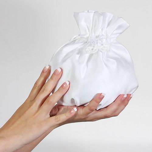 Svatební pompadůrka bílá - STŘEDNÍ