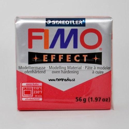 FIMO Effect / Metalická červená - rubínová (28)