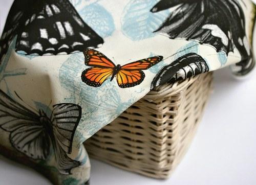 Panel látek Motýli 45x45 cm