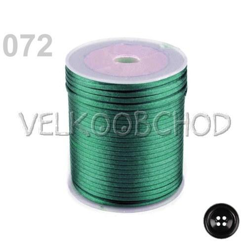Saténová šňůra pr.2mm (10m) - kapradinová zeleň