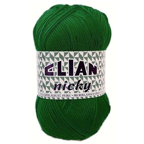 Pletací příze Nicky / 10026 - tm. zelená