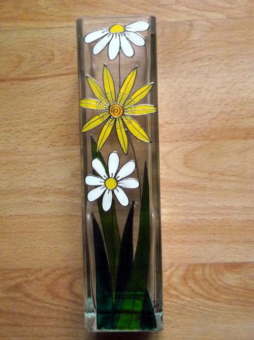 Skleněná váza - kytky