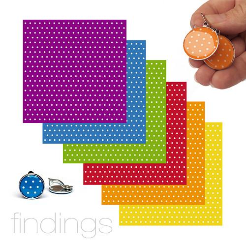 Origami papír / Mix puntíků / 6ks / 10x10cm
