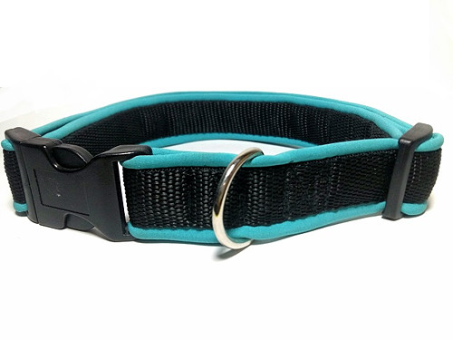 Obojek modrý softshell (max. délka 45 cm)