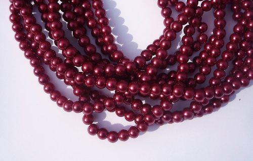 Voskované perle vínové (20 ks)