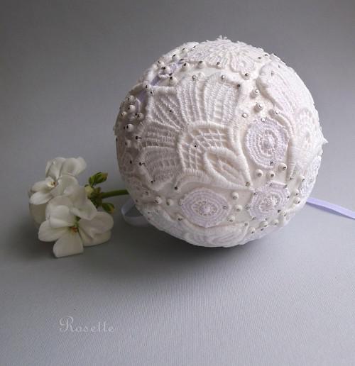 Sněhulka krajková - dekorace