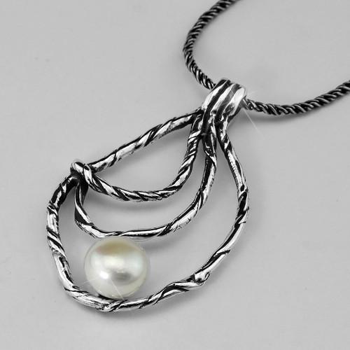 Stříbrný náhrdelník s perlou AG 925/1000