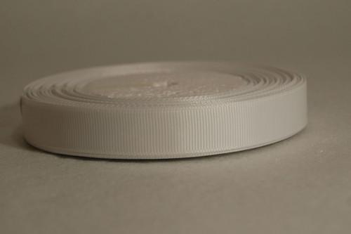 Rypsová stuha 15 mm bílá