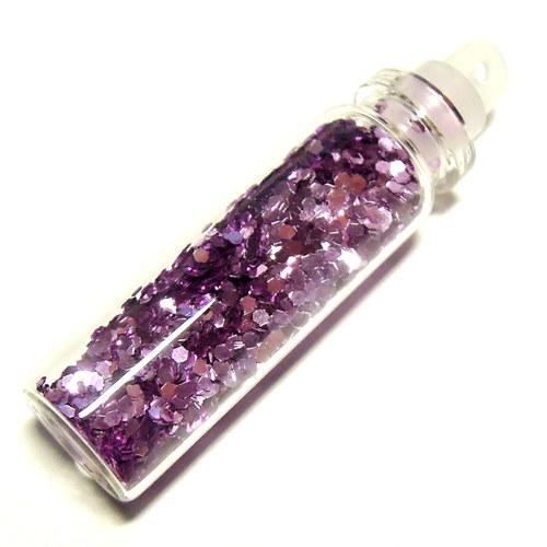 Glitry - šestiúhelník - ametystová