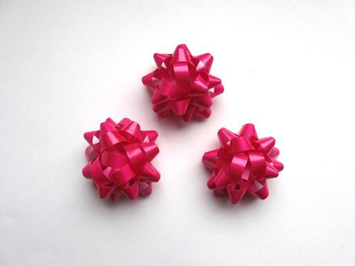 Mašlička - růžová 3ks (4cm)