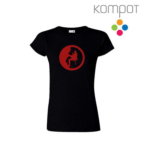 Dámské tričko HOROLEZEC :: černé, vel. S-XXL