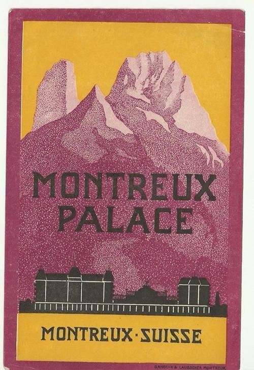 Hotelové nálepky Montreux Palace