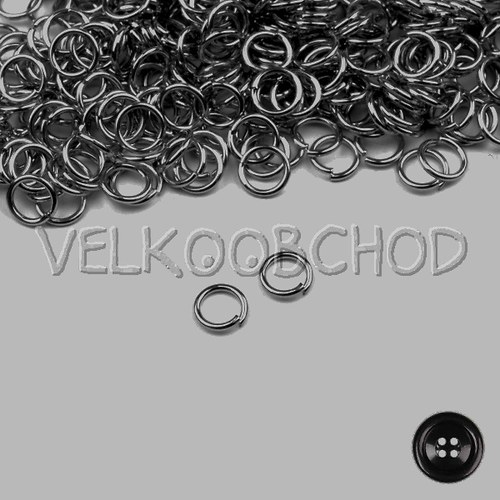 Spojovací kroužky pr.6 mm (250 ks) - hematit