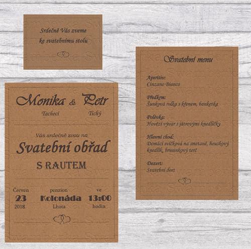 Svatební oznámení Kraft Sára