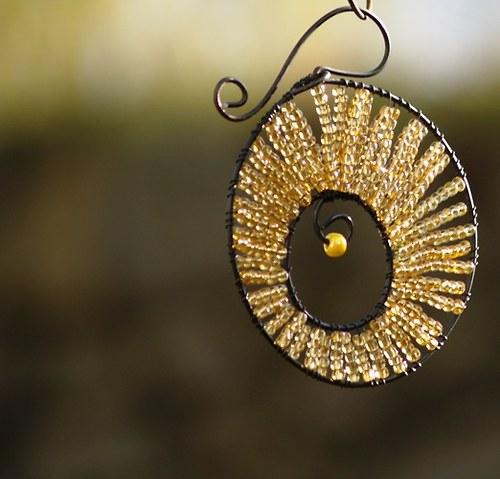 Kolečko k zavěšení zlaté - 10 cm
