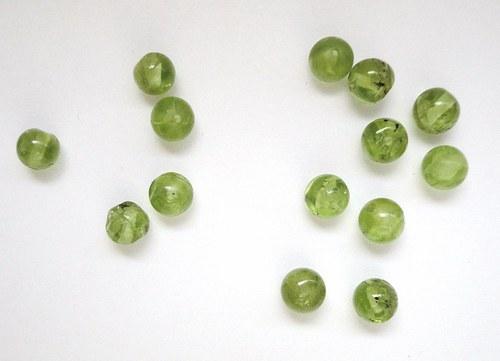 Olivín - kulička - 5mm