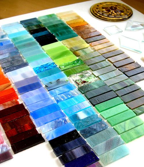 Sklo Spectrum 15x15cm (Tiffany..), SADA 20 odstínů