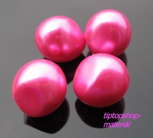 Voskované perly nugeta,Carmine Rose, 13x15mm (4ks)