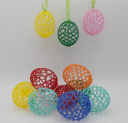 Velikonoční háčkované vejce č.1