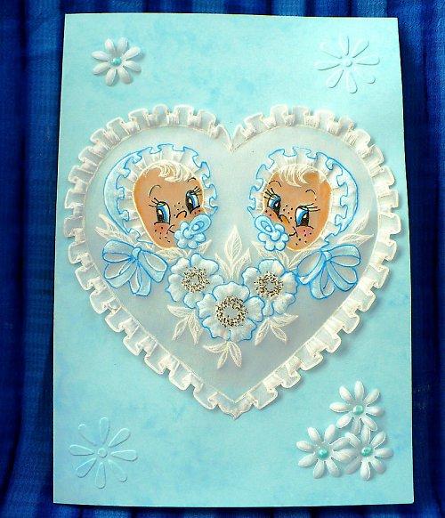 47. Blahopřání k narození dvojčátek