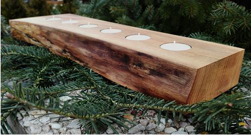Jasanový svícen pro 6 svíček