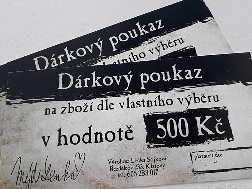 Nákupní poukaz 500 Kč u prodejce Mýd Lenka