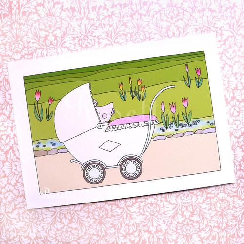 Když byla Maruška miminko ... - pohlednice