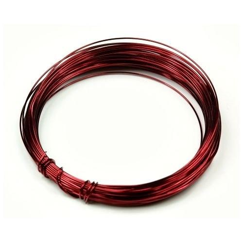 Lakovaný měděný drát 0,3 mm - návin 5 m - bordó