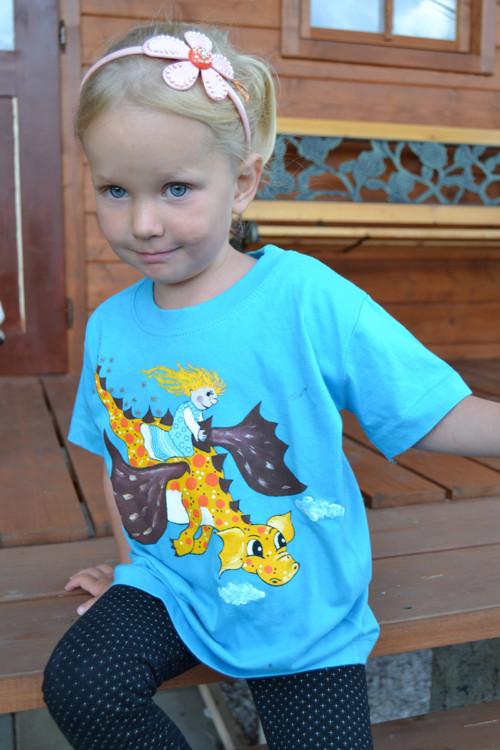 Dračí tričko ochrany pro děti - žlutý drak
