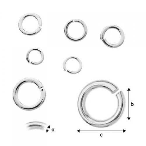 Kroužek spojovací,Ag 925/1000,5 kusů