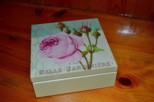 Krabička, šperkovnice - růže