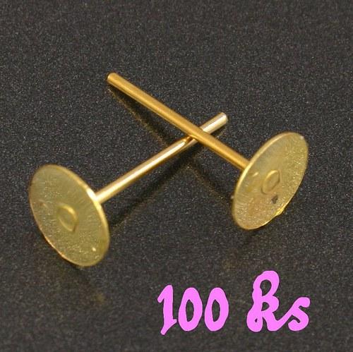 Zlaté puzety 12x8mm 100ks