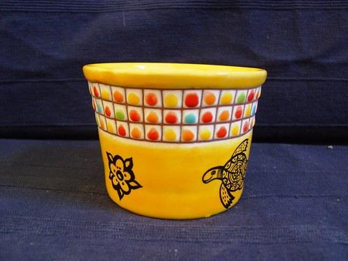 Mařížský designový květník - ŽLUTÁ KOSTKA