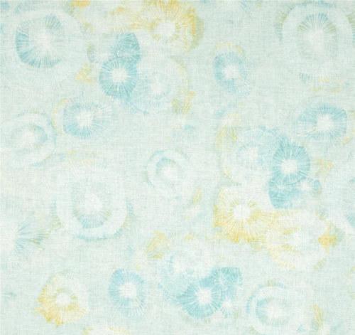 Látka The Sweet Life modro/žlutá batika