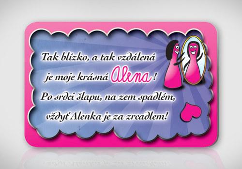Poetická magnetka se jménem Alena