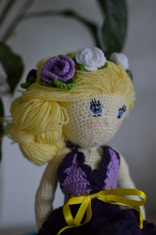 Háčkovaná panenka Růženka