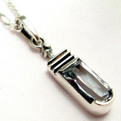 Přívěsek «Harmonie» - stříbro 925, bílý topaz