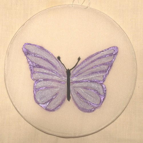 Motýlek fialový kruh 15