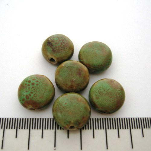 keramická čočka zelená 7x15mm