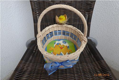 Košíček na 10 vajíček - modré vajíčko