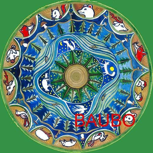 Mandala šamanská - samolepka