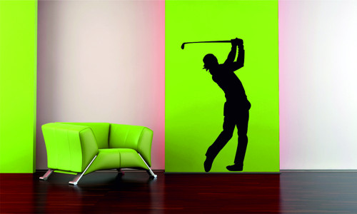 Samolepka na zeď - Golfista